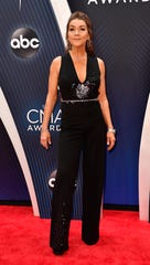 Gretchen Wilson on the red carpet before the 52nd Annual CMA Awards at Bridgestone Arena Wednesday, Nov. 14, 2018, in Nashville, Tenn.