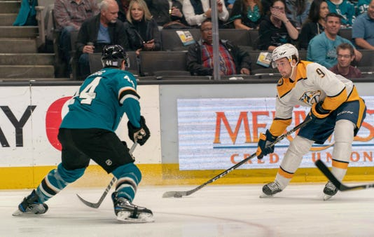 Nhl Nashville Predators At San Jose Sharks