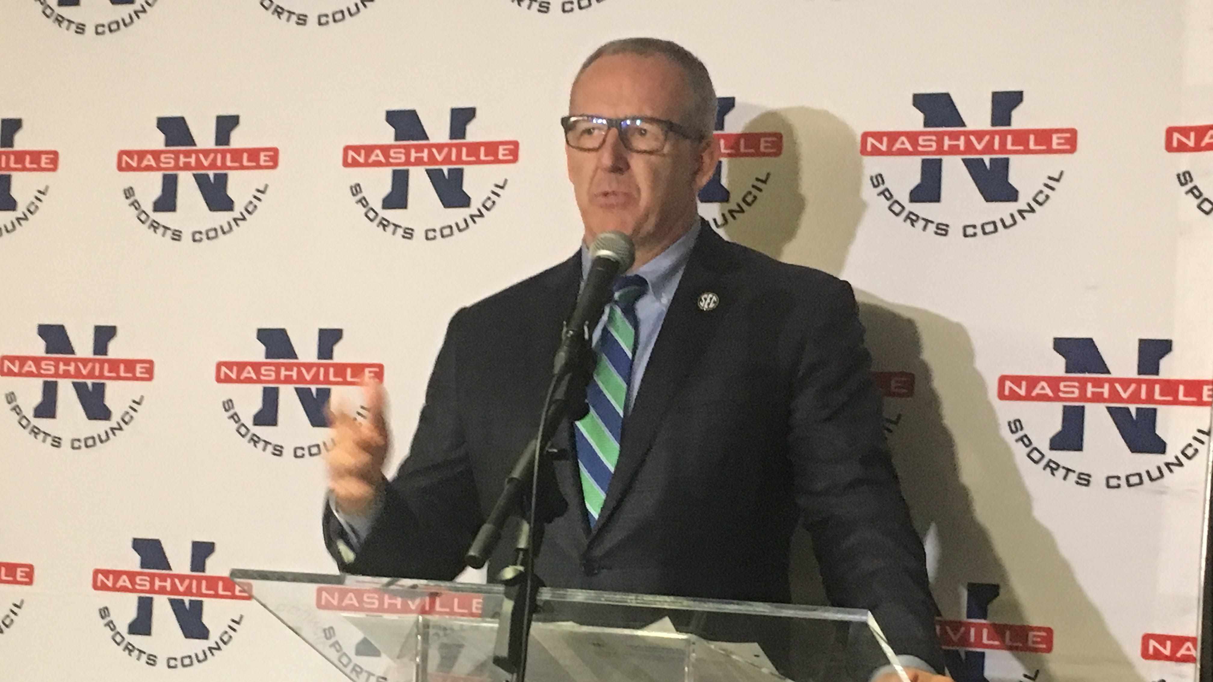SEC commissioner Greg Sankey announced Wednesday that the SEC basketball tournament will be played in Nashville throughout 2035.