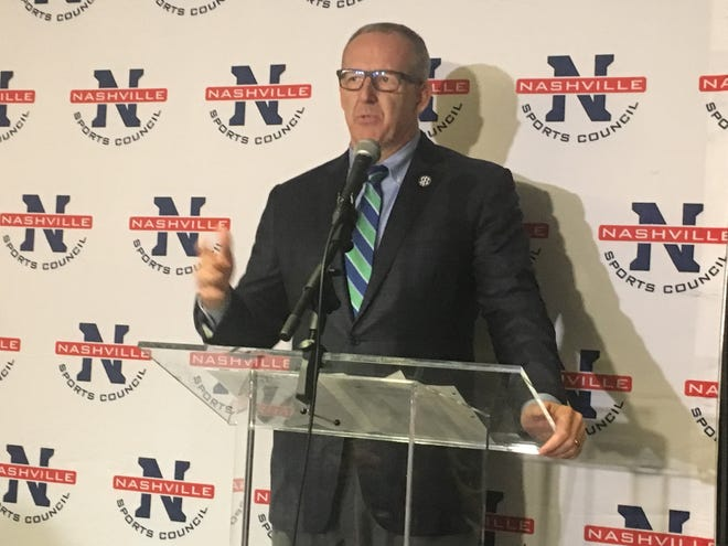 SEC Commissioner Greg Sankey announced Wednesday that the conference basketball tournament will be played in Nashville throughout 2035.