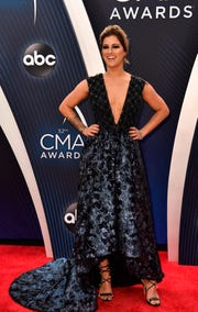 Cassadee Pope walks the red carpet before the 52nd annual CMA Awards on Nov. 14 at Bridgestone Arena.