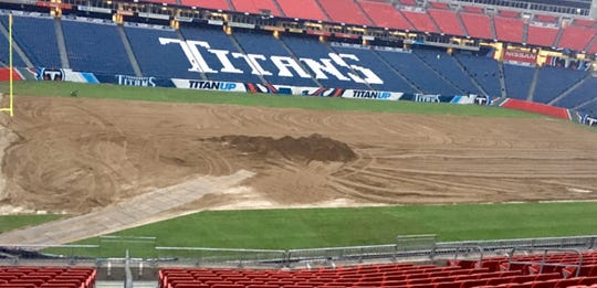 The field at Nissan Stadium is being resodded.