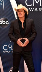 "David Lee Murphy walks the red carpet before the 52nd CMA Awards in November. He and Kenny Chesney won the Musical Event of the Year prize for their hit ""Everything's Gonna Be Alright."""