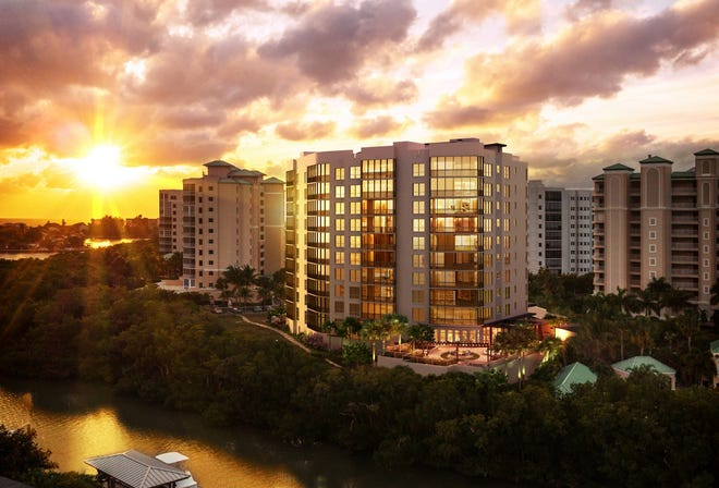 Named for its panoramic views of the Gulf of Mexico and Estero Bay, Grandview will be the final tower in Waterside at Bay Beach.