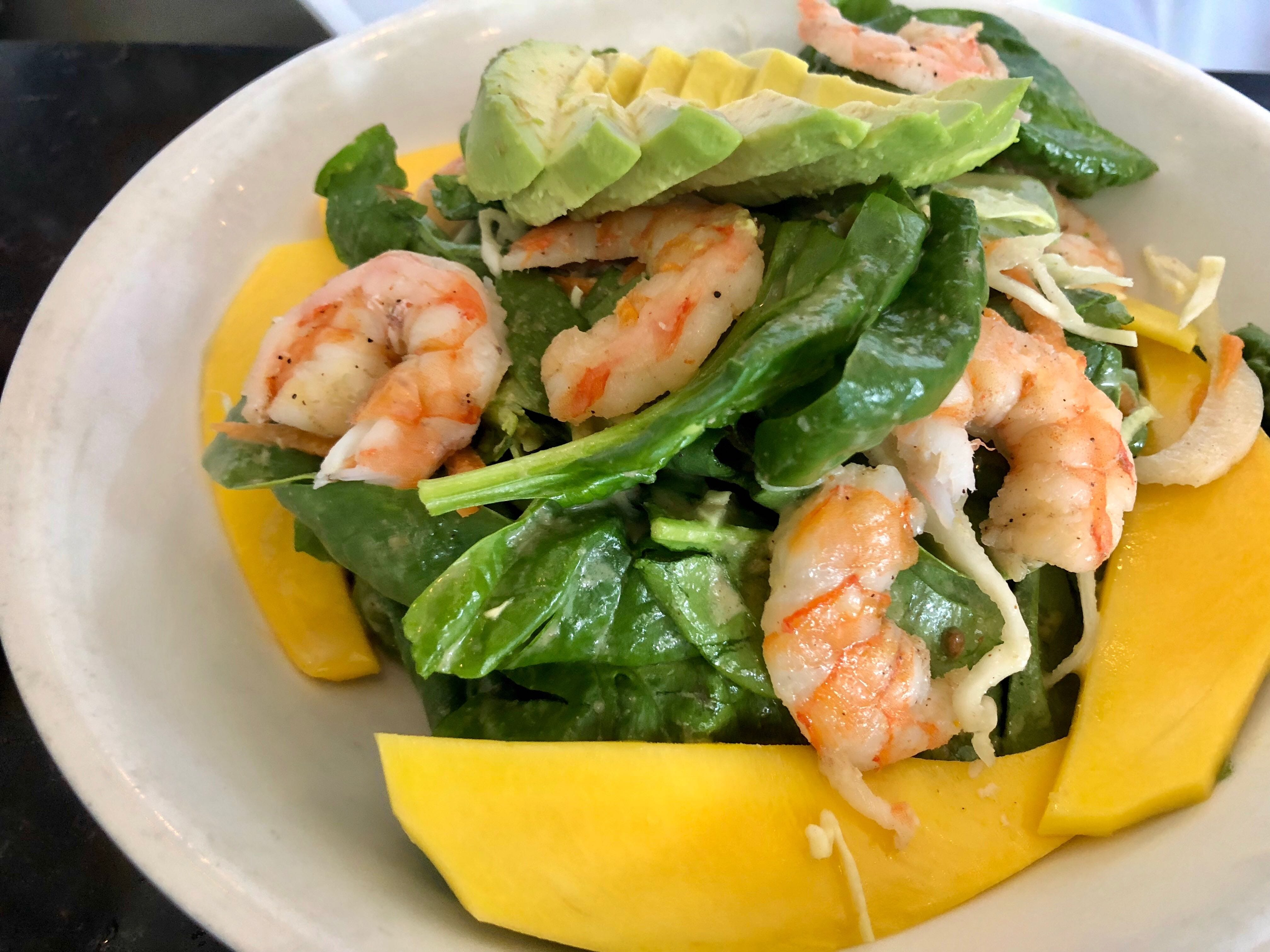 Shrimp, mango and avocado salad makes for a perfect lunch at The Local restaurant in North Naples.