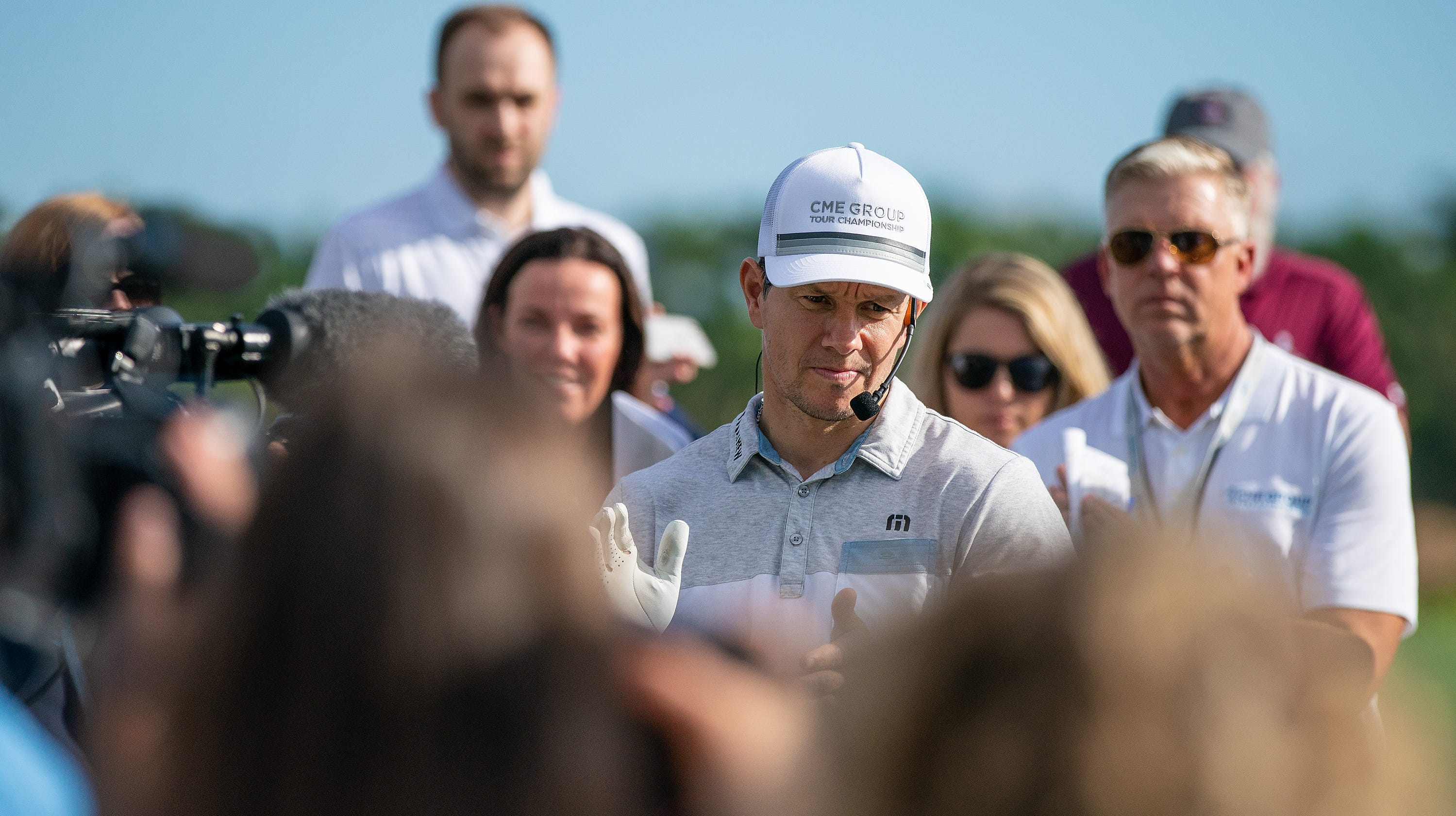Actor Mark Wahlberg makes appearance for charity at CME Group golf