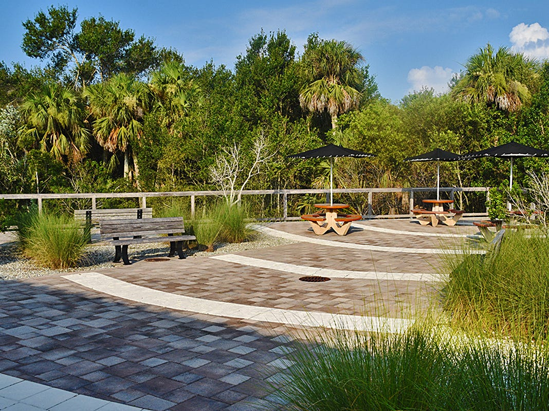 The Fred W. Coyle Freedom Park in Naples offers a variety of visitor amenities including this picnic area with covered tables. The Park was acquired in June of 2008.