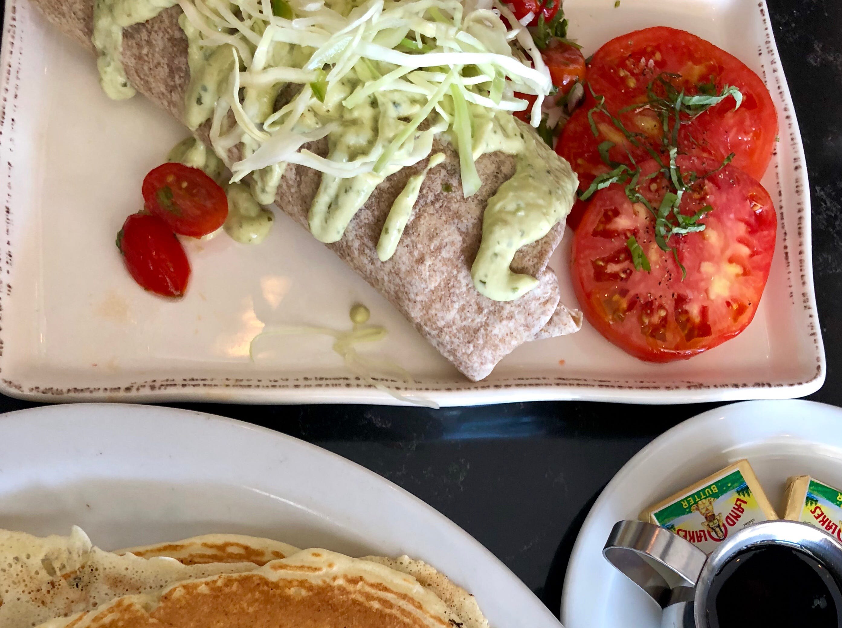 Brunch, including pancakes and breakfast burritos, is served starting at 10 a.m. Sundays at The Local restaurant in North Naples.