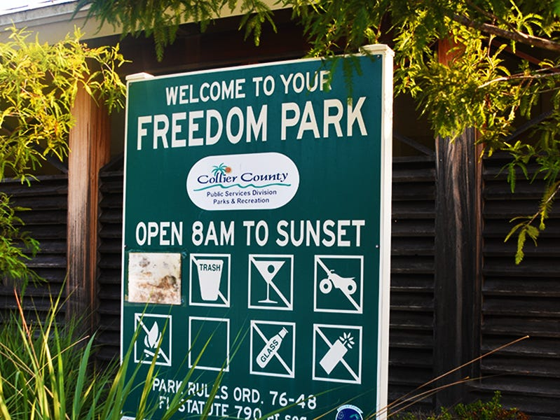 Collier County's Fred W. Coyle Freedom Park covers approximately 50 acres and sits at the northeast corner of Goodlette-Frank Road and Golden Gate Parkway.