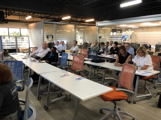 An audience of community members and potential investors at 1 Million Cups Naples heard about two local businesses on Wednesday, Nov. 14, 2018.