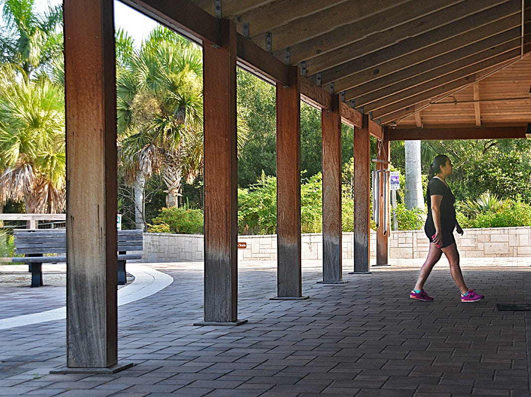 Collier County's Fred W. Coyle Freedom Park includes a  2500 square-foot education facility with restrooms and picnic area.
