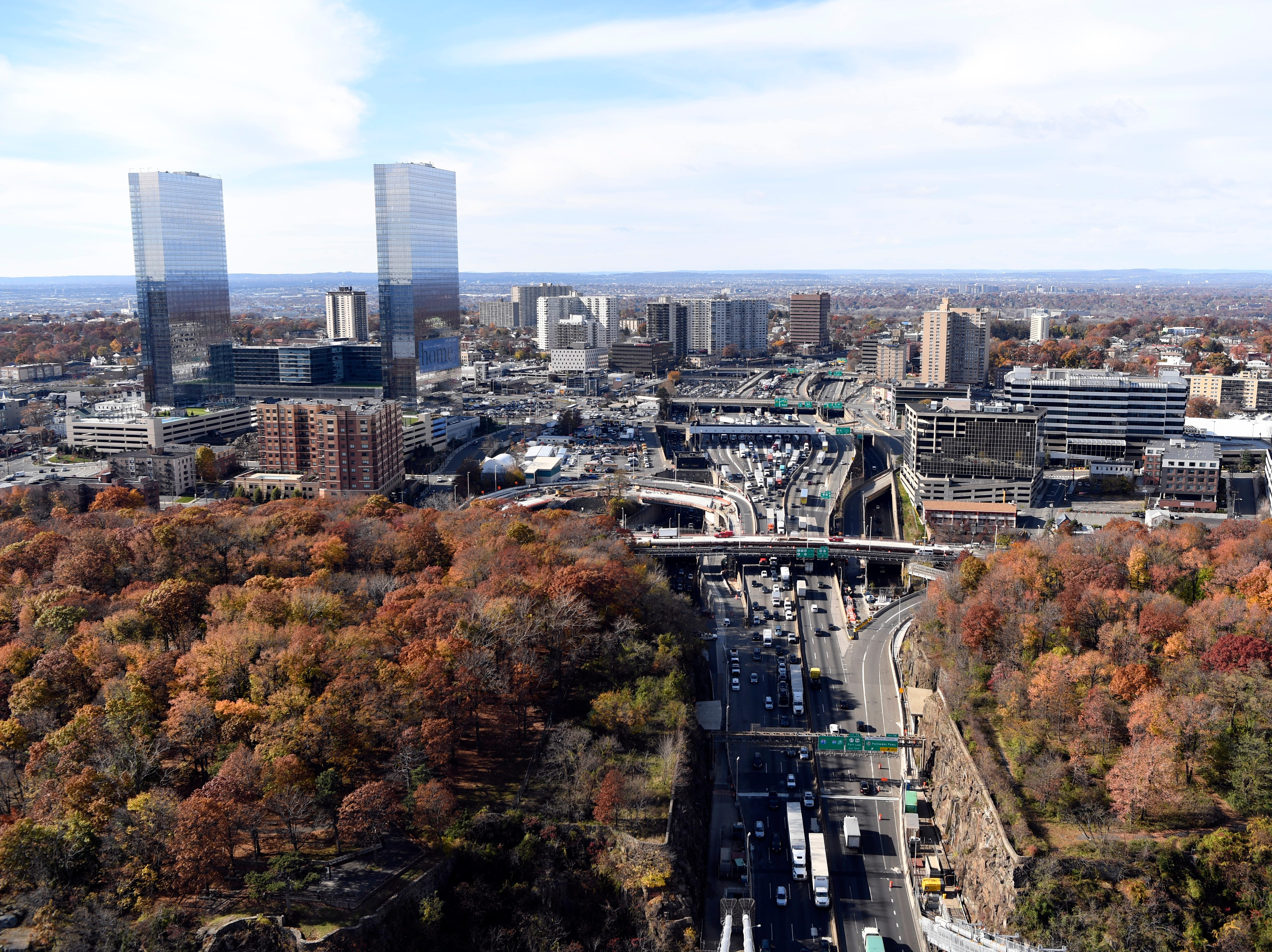 The view of Fort Lee seen from the George Washington Bridge on Wednesday, Nov. 14, 2018.