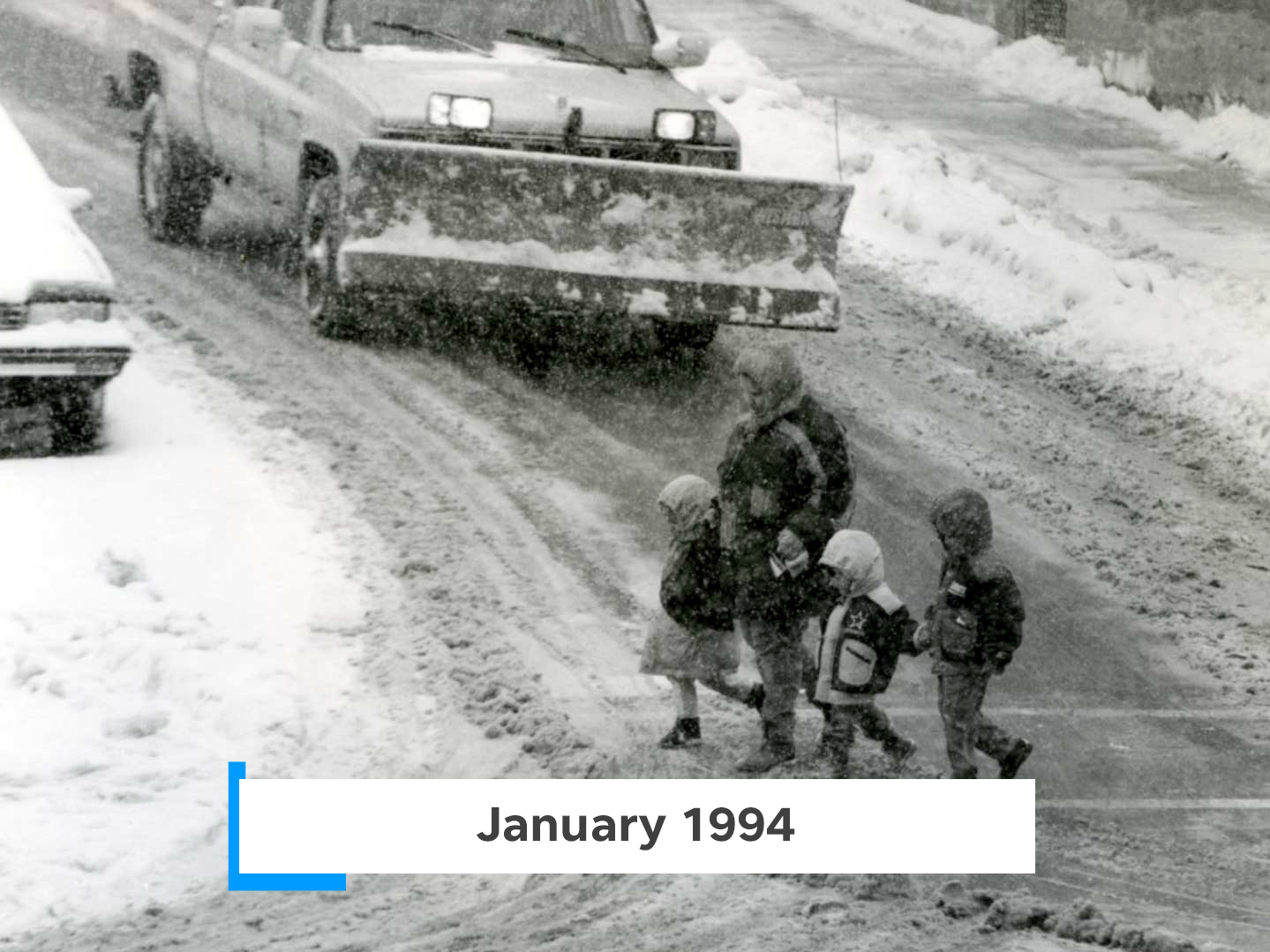 The ice storm in early January 1994 created a mess of snow, ice and rain from West Virginia to Maine.
