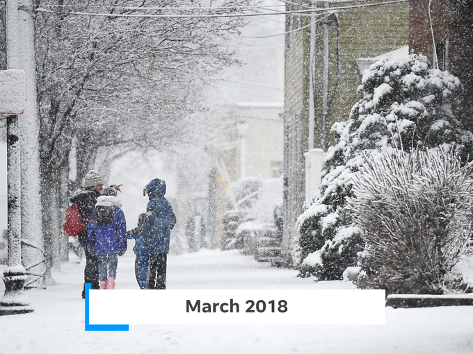 March 2018's nor'easter dumped more than 25 inches of snow on parts of the state.