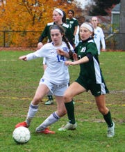 Hawthorne freshman Ruby Conroy (14) had 13 goals and seven assists this season.