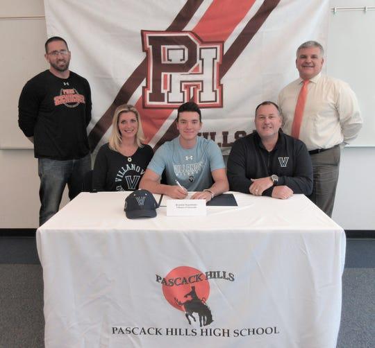 Pascack Hills' Brandon Siegenthaler signer a letter of intent to play baseball at Villanova.