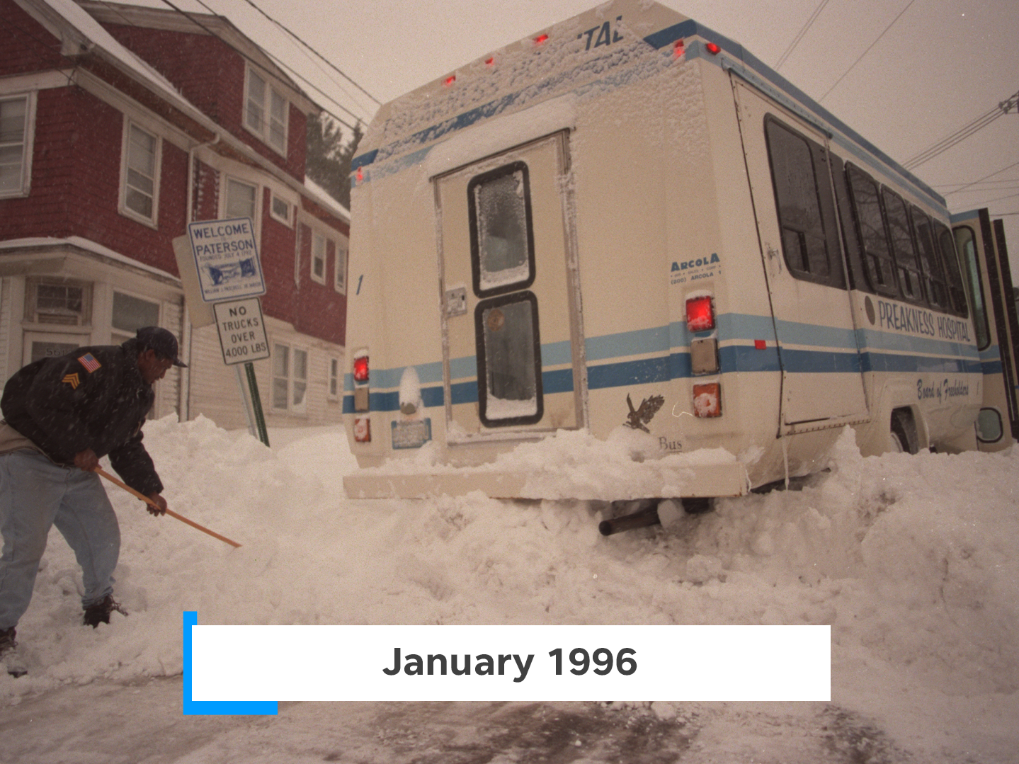 The storm of 1996 buried northern New Jersey under 30 inches of snow.