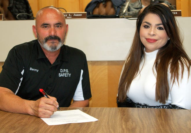 Deming Mayor Benny Jasso and Luna County Fighting Diabetes organizer Johana Quintana signed into proclamation November as National Diabetes Awareness and Prevention Month.