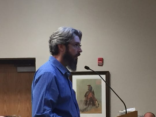 City of Carlsbad Planning Director Jeff Patterson talks about temporary housing during the Nov. 13, 2018 Carlsbad City Council meeting.
