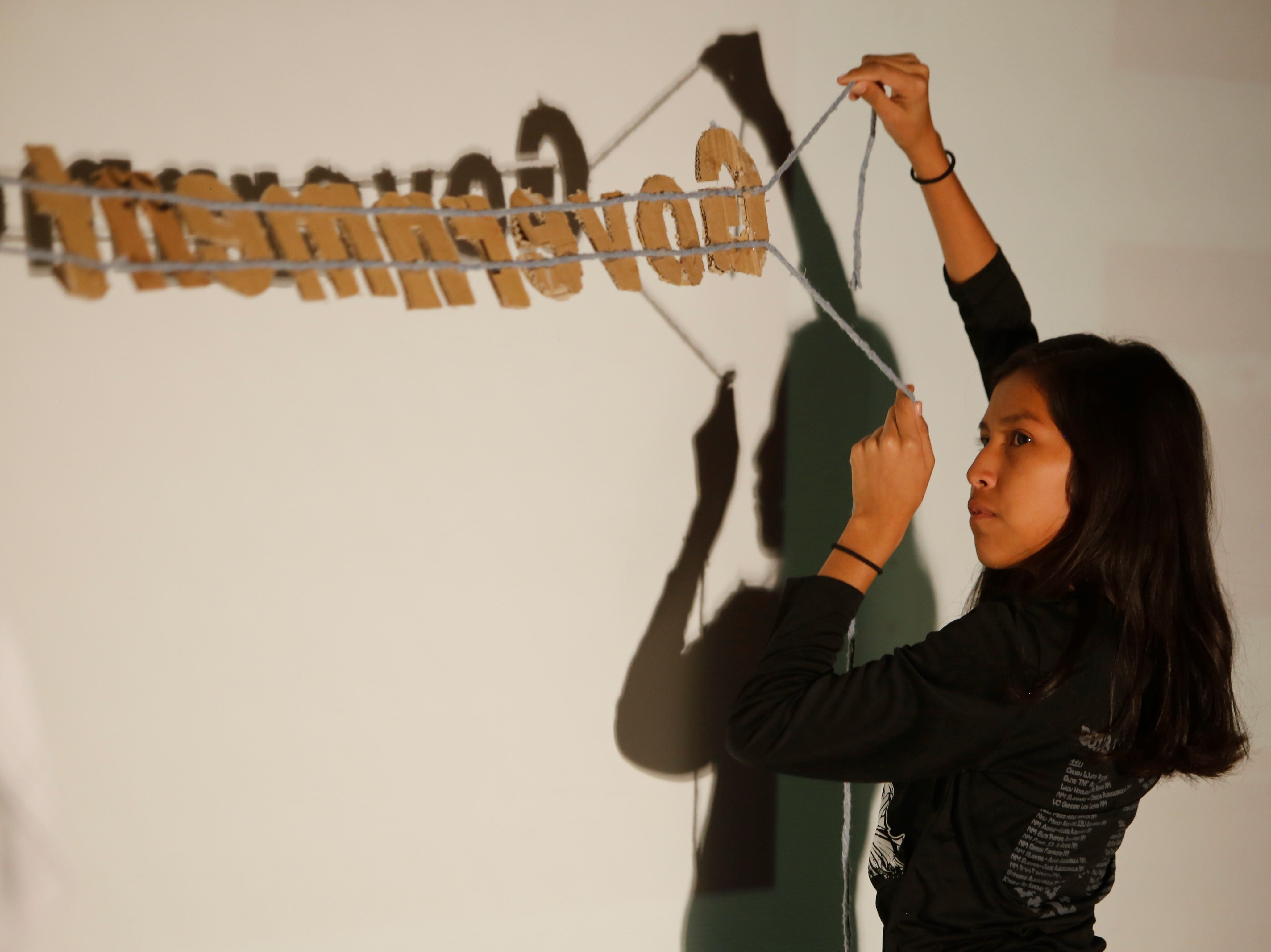 Middle school students feature Navajo history in shadow play