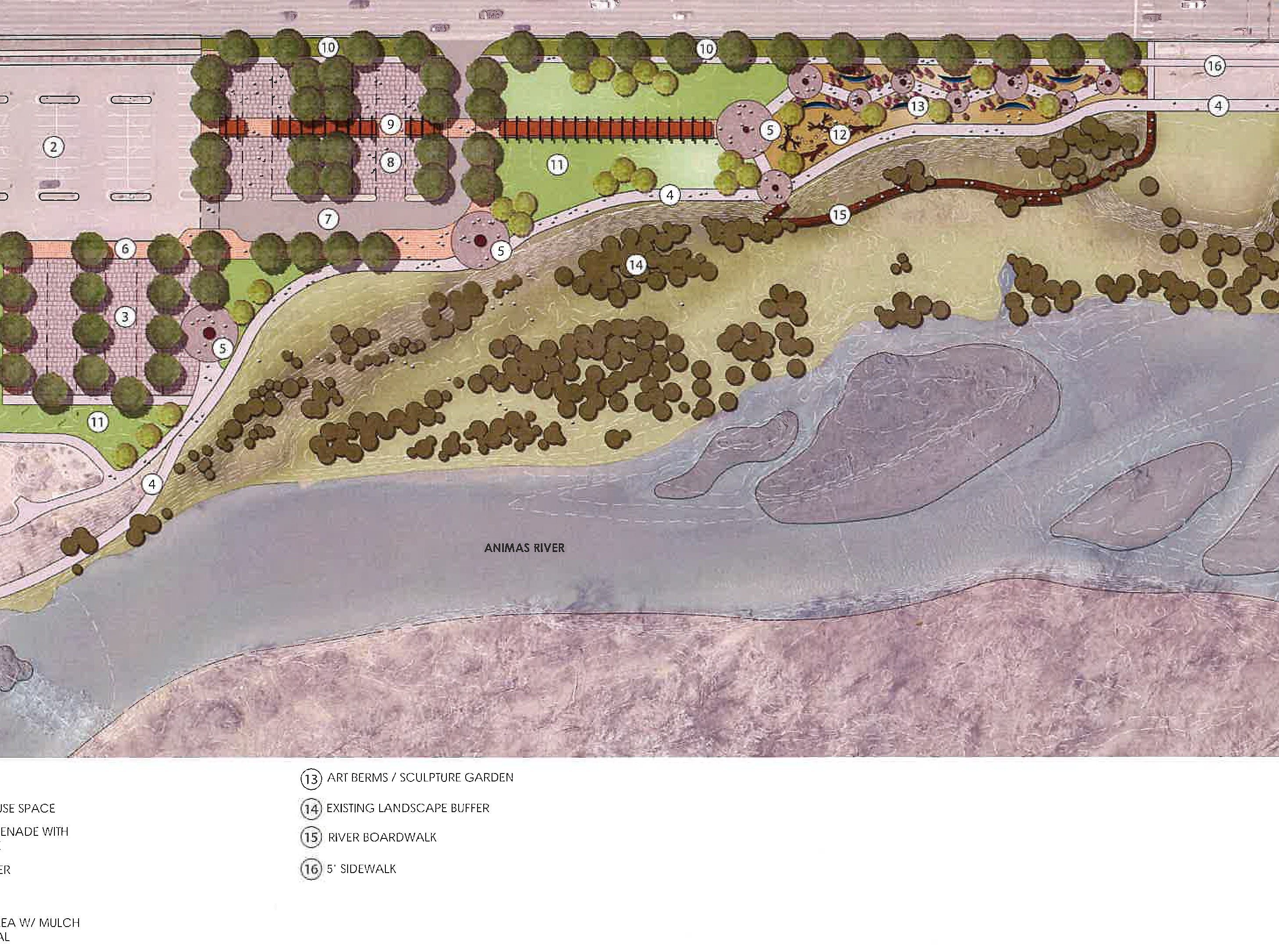 This is a rendering of the Animas River Trail 'Iconic Park' Concept 3, a project that is being considered for land next to the Farmington Museum.