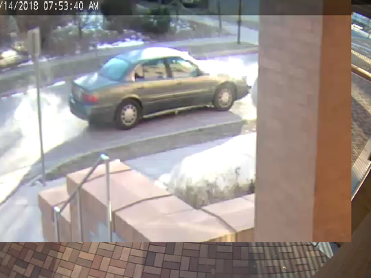 UW-Oshkosh police released a surveillance photo of the car they say carried away armed robbery suspects at  the University of Wisconsin-Oshkosh on Wednesday, Nov. 14.