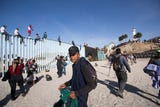 The first large wave of about 400 migrants of the Central American migrant caravan arrived in Tijuana Nov. 13, 2018.