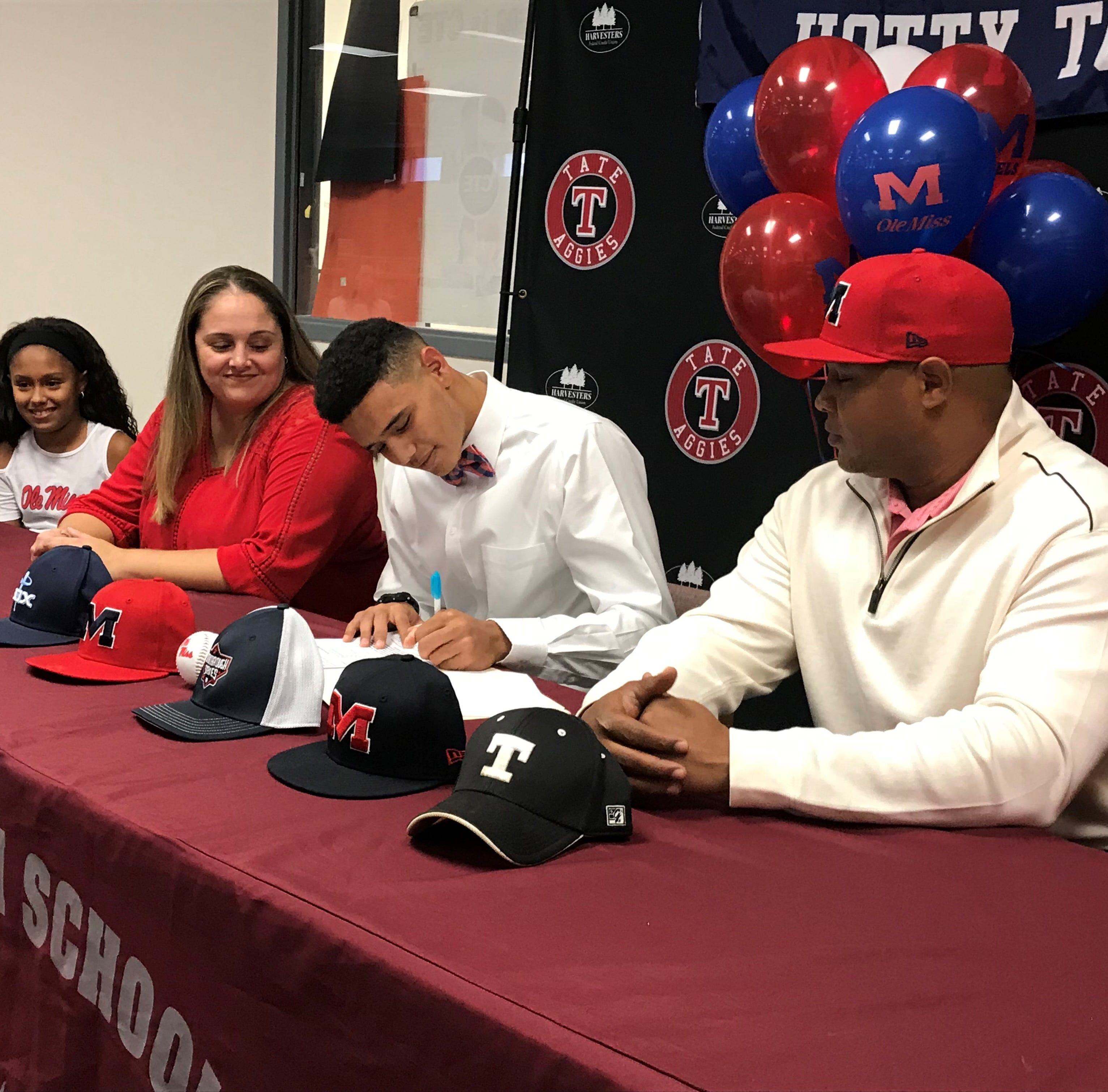 Tate High's Trey LaFleur inks letter of intent with Ole Miss