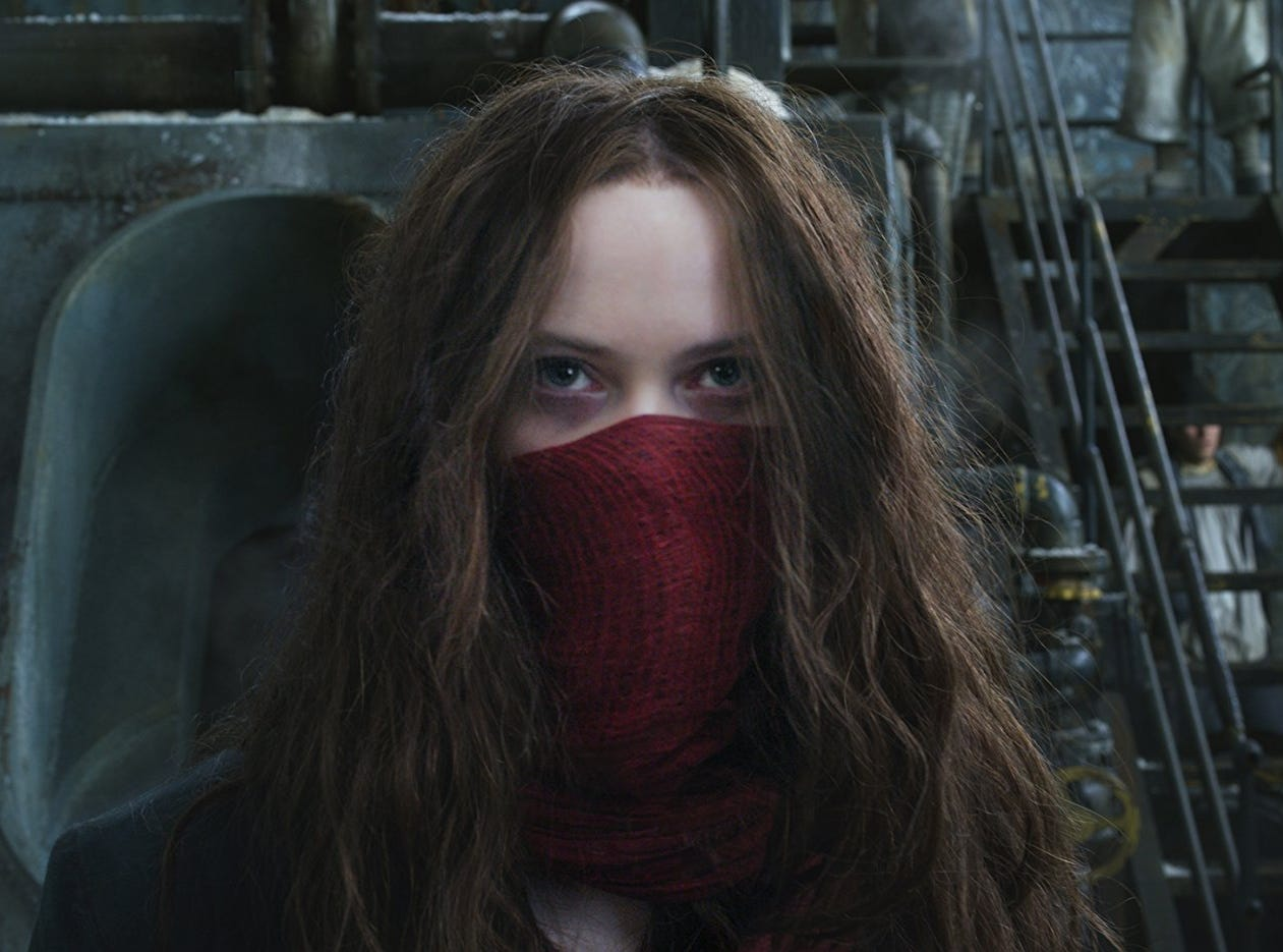 """Mortal Engines"" (PG-13): Peter Jackson and his ""Lord of the Rings"" compatriots reunite for this post-apocalyptic epic in which motorized cities roam the world destroying the destitute. 