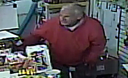 Surveillance video stills of a man suspected of killing a man at Mi Pueblo Mercado in Mesa on Oct. 29.
