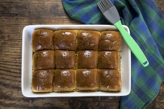 Herb-buttered dinner rolls prepared by Robin Miller, Nov. 13, 2018, in Scottsdale.