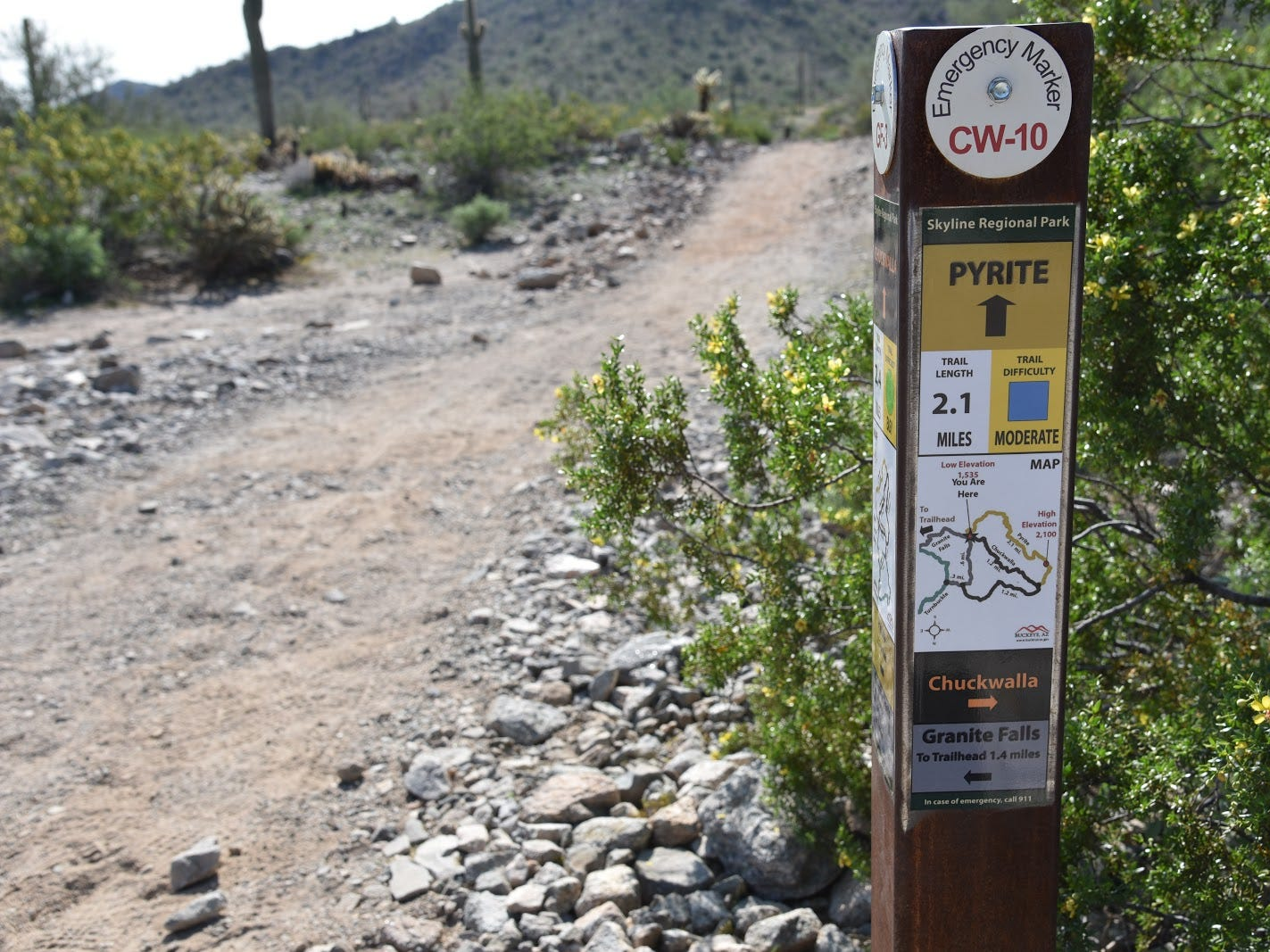 Pyrite Trail spins off busier park trails.