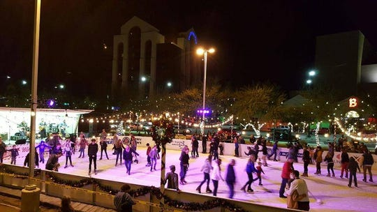 Experience a Winter Wonderland at the ice rink in Mesa City Plaza through Jan. 4.