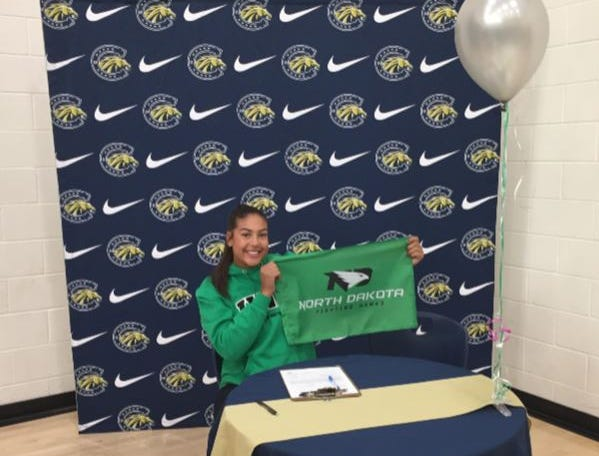 Kaia Langaker of Casteel has signed to play softball at North Dakota.