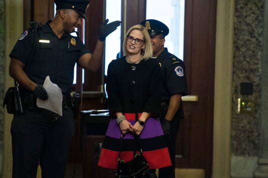Sen.-elect Kyrsten Sinema in Washington
