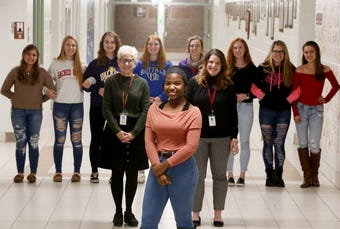 """Arlington senior Mikaela McNeil is an orphan, but she and her classmates discuss how the school became what she considers """"extended family."""""""