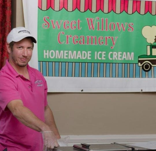 Brent Lebouitz, owner of Sweet Willows Creamery, presents his ice cream at a previous Flavors of York event at the Yorktowne Hotel.
