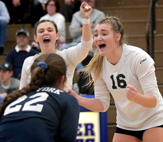 Outside hitter Georgianna Kahley (16) is one of the key returners for the 2019 West York girls' volleyball team.