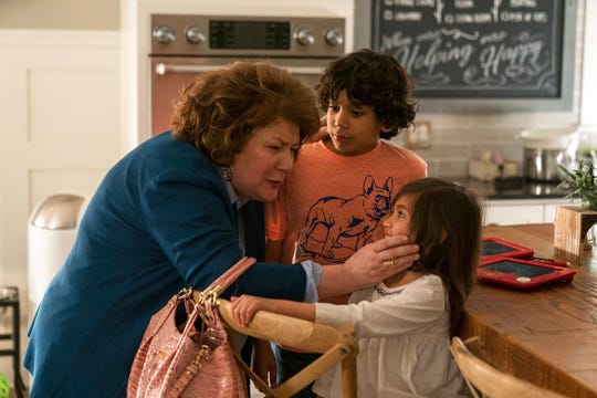 "Margo Martindale, left, Gustavo Quiroz and Julianna Gamiz in a scene from ""Instant Family."" The movie opens Nov. 16 at Regal West Manchester Stadium 13 and R/C Hanover Movies."