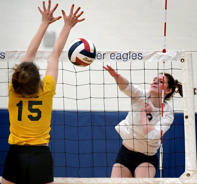 West York's Julia Rill is the 2018 York-Adams Division II Girls' Volleyball Player of the Year. Rill helped the Bulldogs win the PIAA Class 3-A state championship. Bill Kalina photo