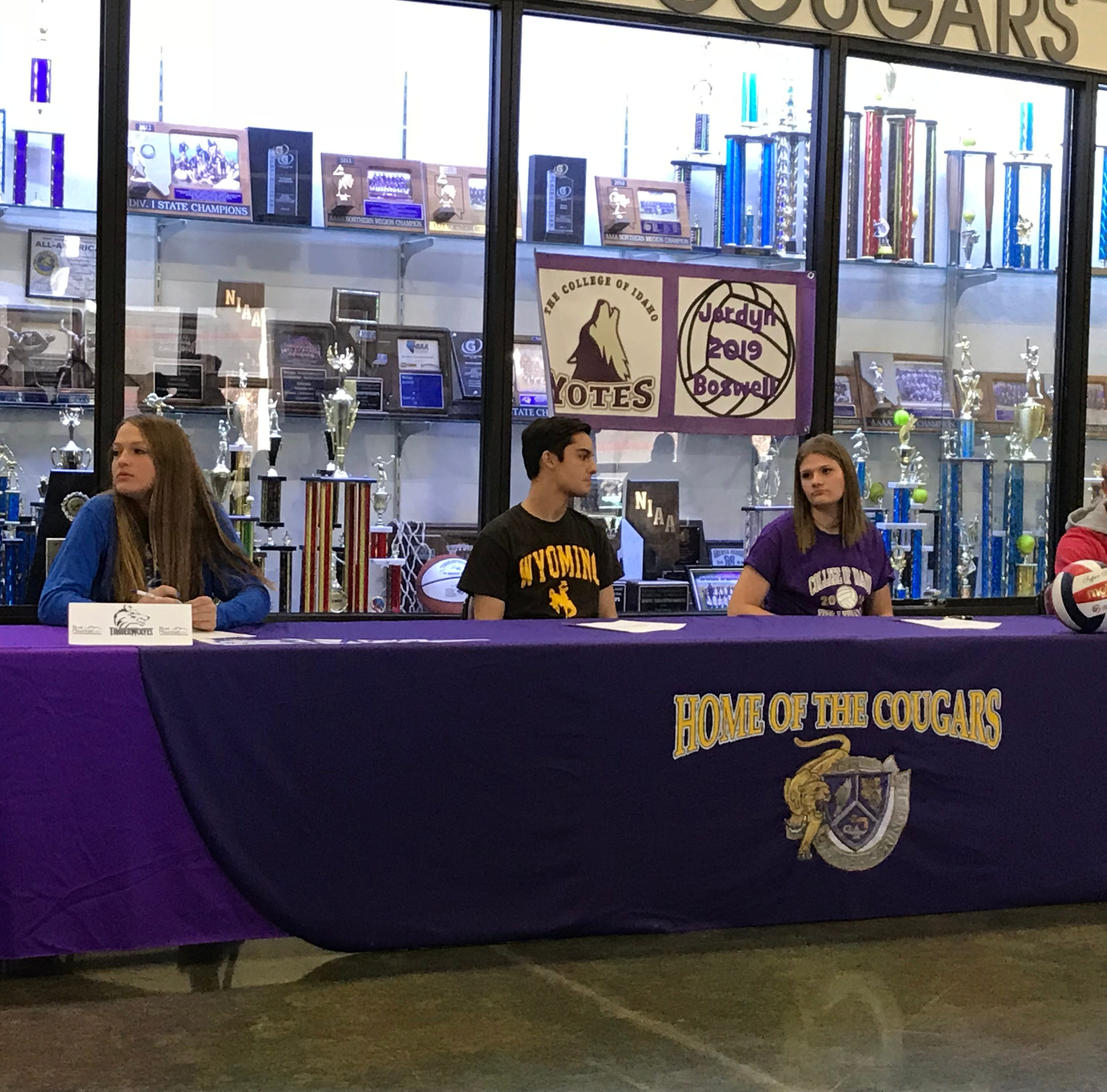 Several Northern Nevada students sign for college athletics