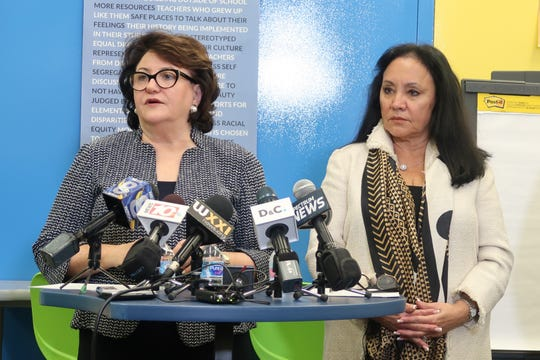 Commissioner Elia and Chancellor Rosa
