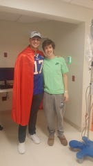 Cooper Petrone, a McQuaid senior hockey player, had a special visitor at the Oishei Children's Hospital in Buffalo where he's being treated for non-Hodgkin's lymphoma, Bills rookie quarterback Josh Allen.
