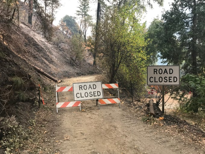 Camp Creek Road, near where the Camp Fire started, has been closed down while Cal Fire investigates the cause of the blaze.