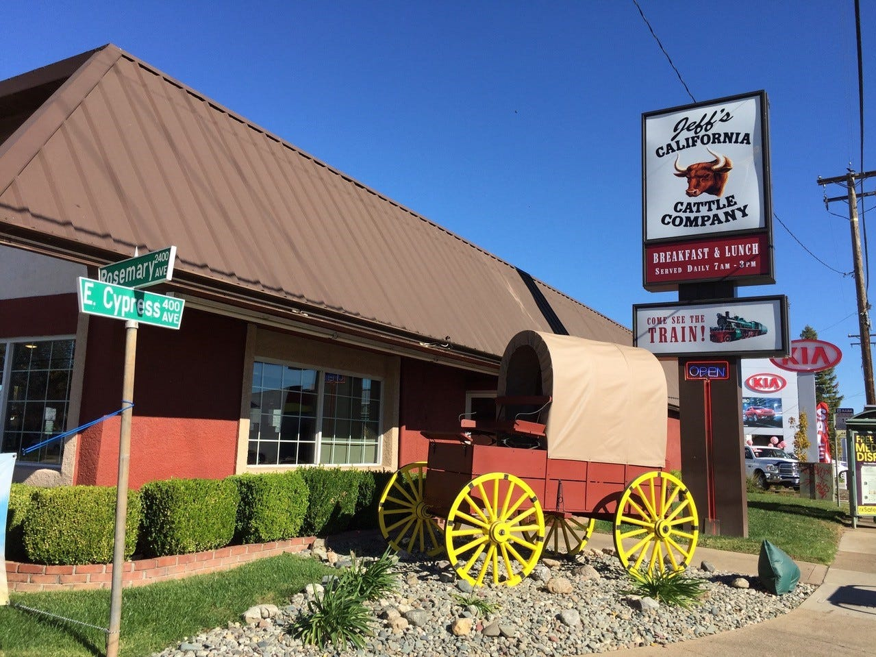 Jeff's California Cattle Company on East Cypress in Redding serves breakfast and lunch daily.