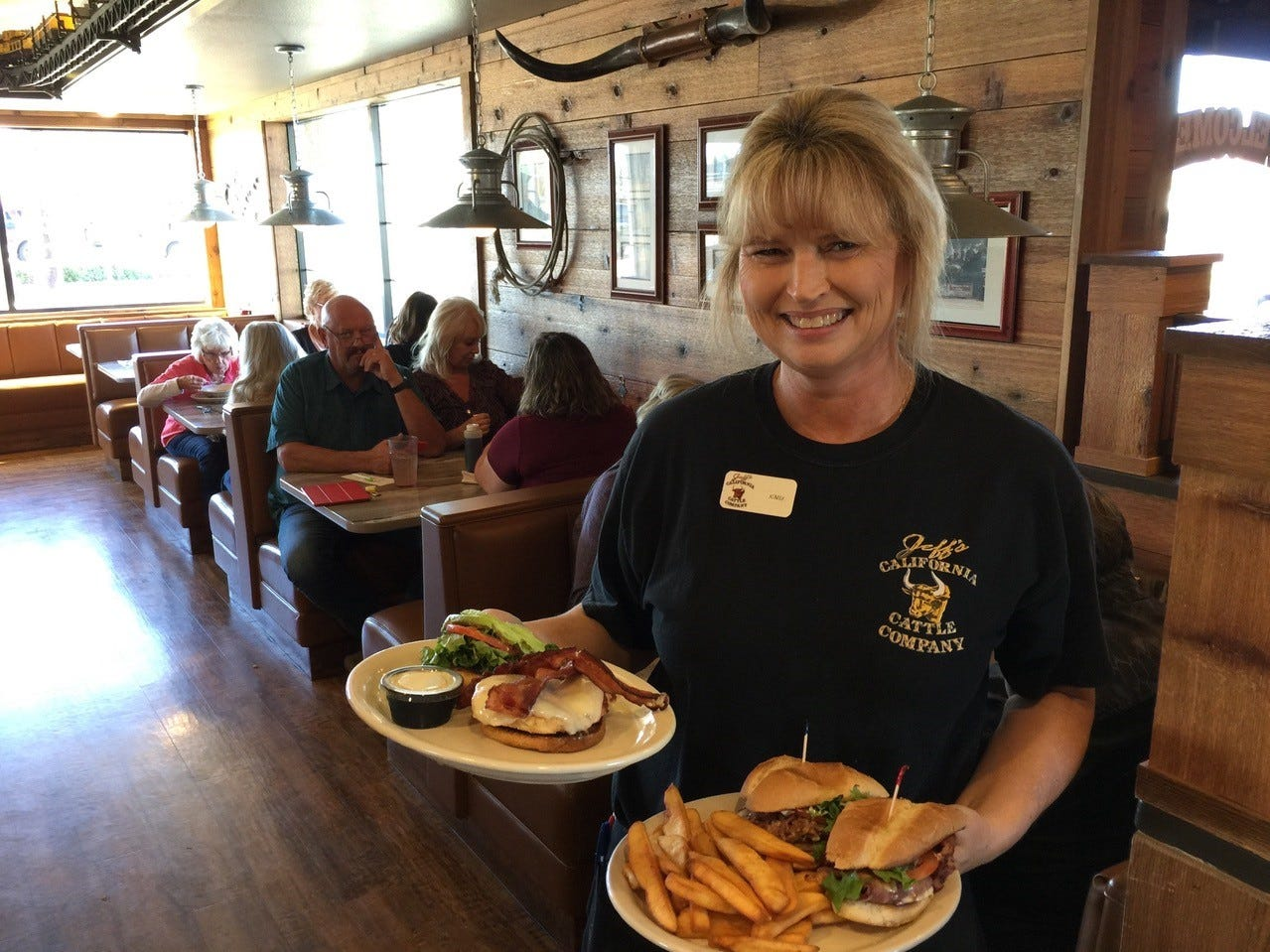 Kimm Jones has worked at Jeff's California Cattle Company for 23 of the 25 years it's been open in Redding.
