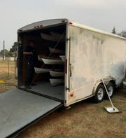 This is the trailer an Anderson man is accused of stealing.