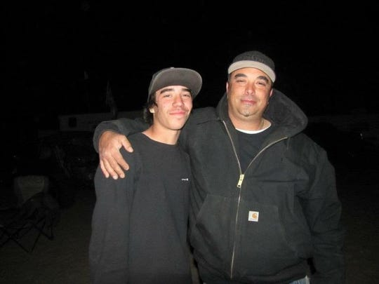 "Jesus ""Zeus"" Fernandez of Concow (right) died when the Camp Fire swept through parts of Butte County on Thursday. He's survived by his son, Zack (left)."