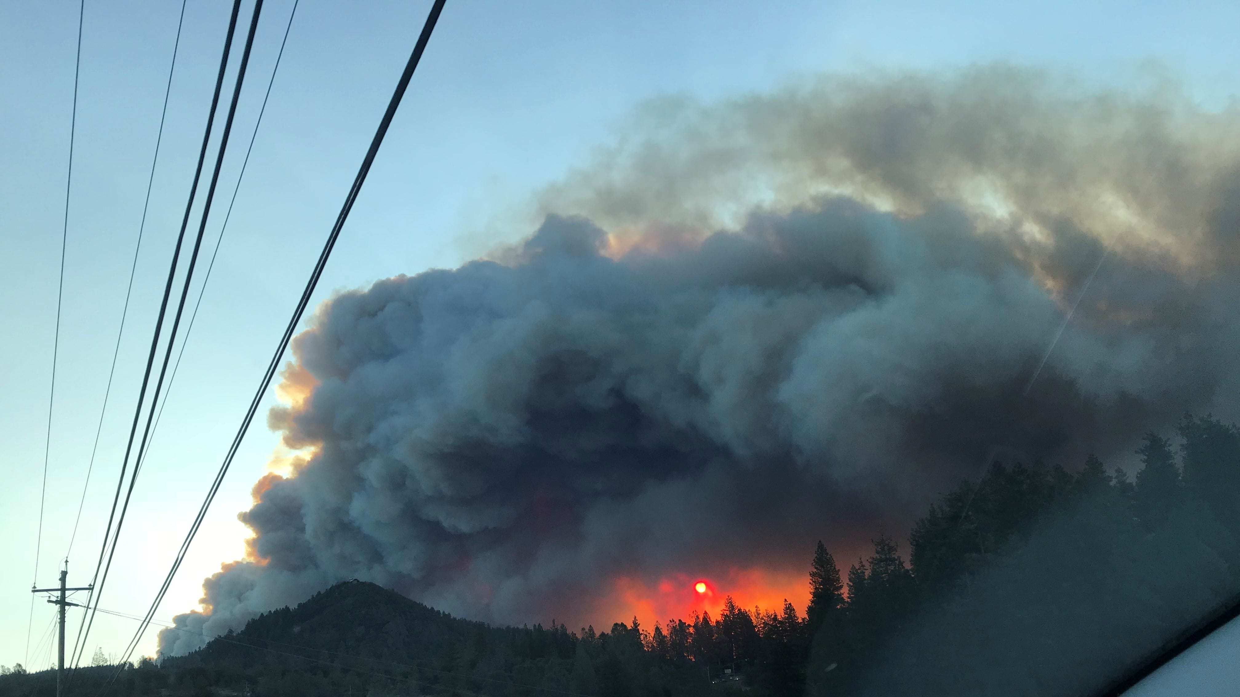 A view of the Camp Fire consuming Paradise from Patty Nonneman's daughter, Nicole, as the family waited for Chris Nonneman to reach Chico.