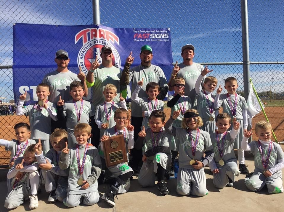 Wall team The Front defeated the San Angelo Seahawks 13-0 in the championship game of the 6u TAAF State Youth Flag Football Tournament at the Texas Bank Sports Complex on Sunday, Nov. 11, 2018. The roster includes: Zzayden Covert, Cash Koehler, Jackson Weishuhn, Ryker White, Adrian Esparza, CJ Burrows, Carter Koehler, Mitchell Hoag, Noah Moorman, Luke Moorman, Trae Chambers, Corby Odell, Barrett Stone, Kanon Weatherford, Cutter Weishuhn and Colton Schniers. Coaches  included: Rozz Covert, Jerry Don Stone, Colby Odell and Jordy Moorman.